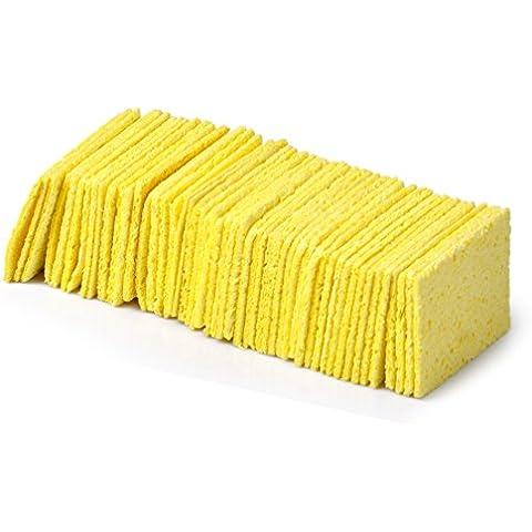 Eastar Confezione da 50 Saldatore rilievi di pulizia di spugna di ferro della saldatura di punta della saldatura Spugne di ricambio - Rilievo Ferro