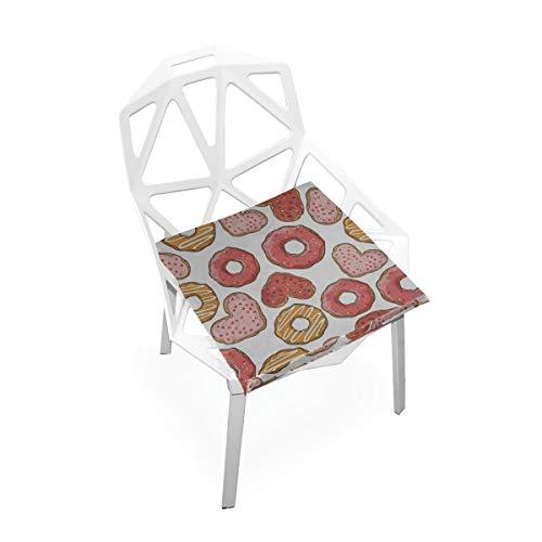 Enhusk Donut Bunte Süße Benutzerdefinierte Weiche rutschfeste Platz Memory Foam Stuhlkissen Kissen Sitz Für Home Küche Esszimmer Schreibtisch Möbel Innen 16x16 Zoll -