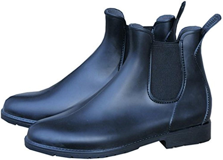 PVC botines Cardiff negro, elástico de cuña para adultos PVC botines, botines Jodhpur, botines de equitación,...