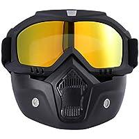 CLISPEED Gafas de Montar para Casco de Motocicleta Gafas con Protector Facial Gafas de Seguridad a Prueba de Viento a Prueba de Polvo Gafas de Protección UV para Mujeres Hombres