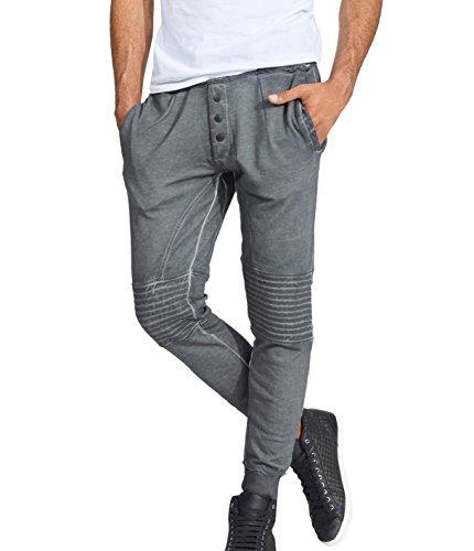 trueprodigy Casual Herren Marken Jogginghose einfarbig Basic, Sweathose cool und stylisch Vintage (Sportlich & Slim Fit), Chino Sweatpant für Männer in Farbe: Anthra 6463103-0403-L