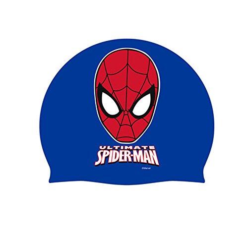 Marvel - Arditex SM 8318 - Cuffia da nuoto in silicone, soggetto: Spiderman
