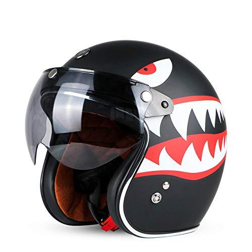 Casco de Motocicleta Retro Open Motocross Motocross Jet Retro Casco Casco de...