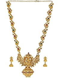 Zaveri Pearls Sacred Goddess Temple Necklace Set for Women-ZPFK7691