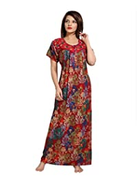 SOULEMO WOMENS PREMIUM EMBROIDERY NIGHTY / NIGHTWEAR WITH FRONT OPEN (AN BOMBAY RAYON FABRIC). 642