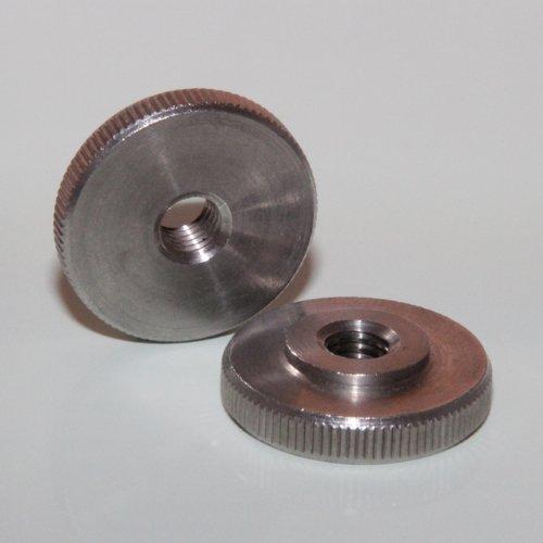 1 Stück Rändelmuttern niedrige Form M5 A1 DIN 467 Edelstahl BiBa-Schrauben