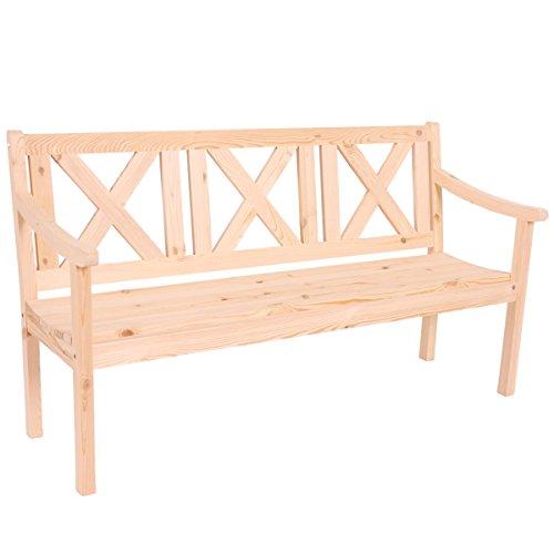 Gartenbank Bank Parkbank Kopenhagen 3-Sitzer 160 cm Holz Gastroqualität ~ natur
