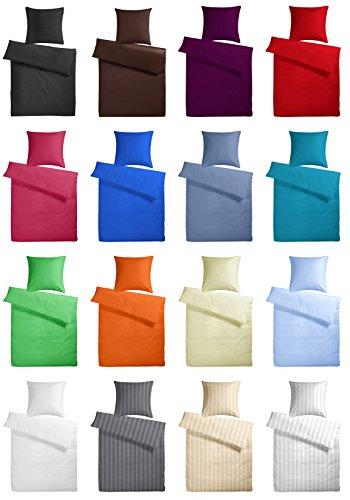 Carpe Sonno Elegante Mako-Satin und Damast Bettwäsche in Exklusiver Hotelqualität aus 100% Baumwolle Schlafkomfort – Hotel-Bettwäsche Set mit Kopfkissen-Bezug