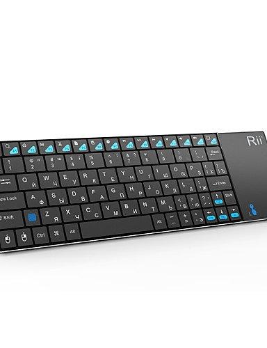 RII K12 Ultra Slim 2,4 GHz tragbare Mini-Funk kodi Tastatur mit gro?en Touchpad-Maus (Russisch)