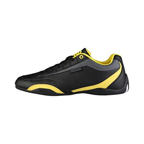 sparco-herren-zandvoort-sneaker-schwarz-gelb-42-eu