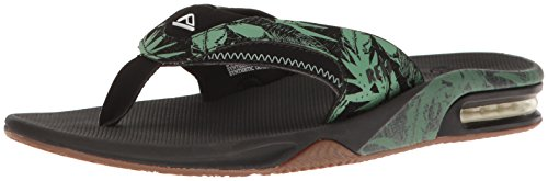 Reef Fanning Prints Army Camo, Tongs homme Green Botanical