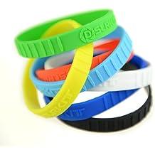 DSLRKIT-silicona lente anillo de goma Pulsera Pulseras SET (7 colores, 7pcs)
