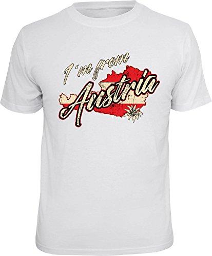 Trendagentur KEPPLINGER Herren T-Shirt Österreich mit Schriftzug I´am from Austria XXL=XXLarge