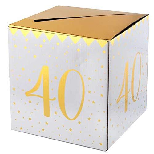 CHAL - Urna Hucha de cumpleaños de 40 años