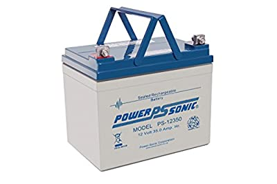 One Pair - 2 x Power Sonic PS12350-12V 35AH (Repalce32AH 34AH) VRLA AGM/GEL Sealed Rechargeable Batteries for Mobility Scooters & Wheelchairs