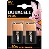 Duracell Plus Power Batterie Alcaline, Stilo 9V, Confezione da 2