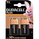 Duracell Plus Power Piles Alcalines type 9V, Lot de 2