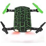 Ularma Nuevo G-sensor 0,3 MP Cámara WiFi FPV RC del Mini Drone Selfe Plegable (Verde)
