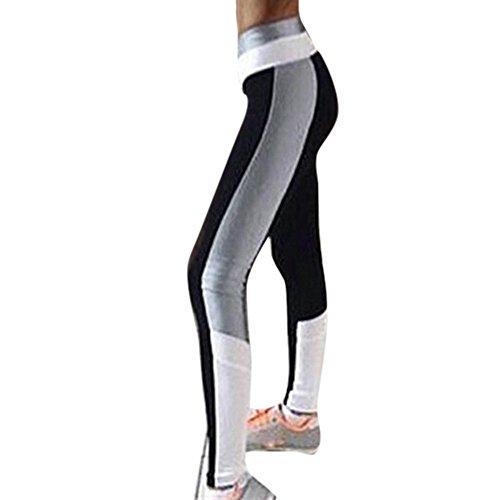 Ausverkauf! Sport Leggings, Damen Casual Mit Seitenstreifen Yogahose Sporthose Yoga-Fitness-Hose, Hohe Taille Lange Streetwear Jogginghose von LEEDY
