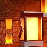Led Solar Flamme Lampe Außenlaterne Hänge Flamme Licht Garten Lampe Taschenlampe Dekoration...