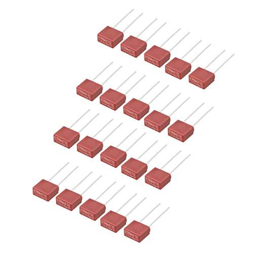 sourcing map 20Stk DIP Halterunged Miniatur Quadrat Mikro Sicherung T3,15A 3,15A 250V rot DE de -