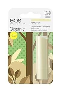 eos Organic Stick Vanilla Bean Lip Balm, natürliche Lippenpflege, Beauty-Pflege für softe Lippen, fruchtiger Lip Stick, Naturkosmetik, 1 x 4 g