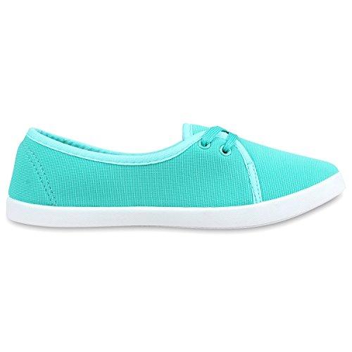 best-boots Ballerine Sneakers Sneaker scarpe da ginnastica Türkis Blau Nuovo