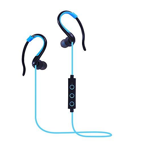 Rosa Schleife Bluetooth Kopfhörer in Ear Bluetooth 4.1 Wireless Sport Stereo Headset In Ear Ohrhörer Noise Cancelling und Sweatproof mit Mikrofon unterstützt 8 Stunden Freisprechen für iPhone 7 6 Plus iOS und Samsung Android Handys iPad Laptops Tablet