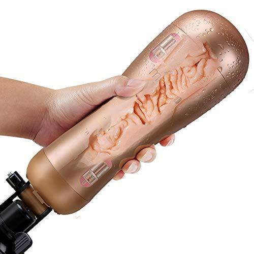 Wiederaufladbare Hände Kostenlos Männliche Masturbator Massage-Tasse Mit Starken Saug Künstlichen Vagina Echte Pussy Sexspielzeug,White