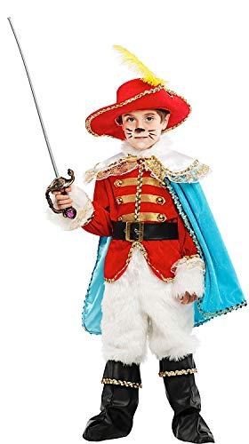 Costume di carnevale da gatto con gli stivali lusso vestito per bambino ragazzo 1-6 anni travestimento veneziano halloween cosplay festa party 53223 taglia 5