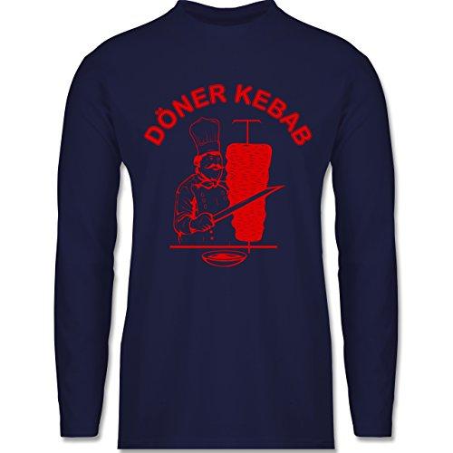 Shirtracer Statement Shirts - Original Döner Kebab Logo - Herren Langarmshirt Navy Blau
