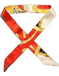 c14a2a7c196 Dabixx Multi-Use Faux Soie Foulard Twilly Wrist Head Band Bag Ruban Noeud  Papillon Wrap