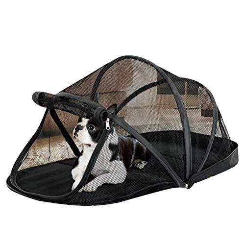 POPETPOP Outdoor Hund Katze Spielhaus Haustier Laufstall Katze Outdoor Haus Faltbare Tragbare Haustierzelt Katzentunnel Camping Strand-Schwarz (Haustier Laufstall Outdoor)