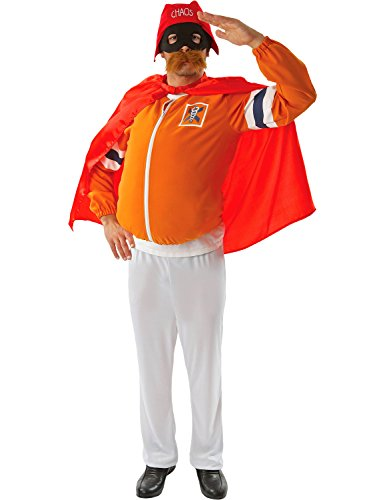Herren Erwachsene Captain Chaos Orange Superheld Victor (Kostüm Herr Orange)