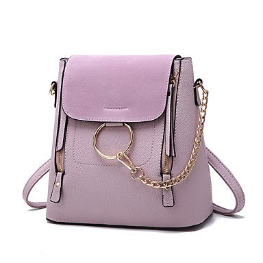 Damenmode Barrel PU Leder Messenger Umhängetasche Purple