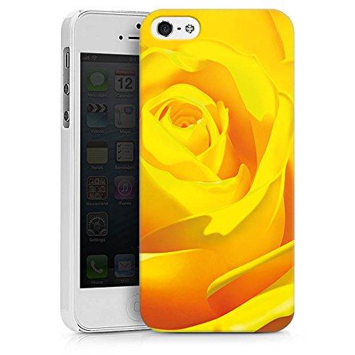 Apple iPhone X Silikon Hülle Case Schutzhülle Rose Blüte Gelb Hard Case weiß