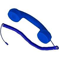 """hi-Fun Hi-Ring, Cornetta Vintage con Filo e Jack Audio da 3.5"""", Colore Blue"""