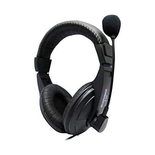 Türkei 3,5mm Wired Kopfhörer Gaming Kopfhörer USB Bass Stereo Surround Sound Headset über Ohr mit Mikrofon und Lautstärkeregler für Laptop PC Handy Tablet etc. (160g Mp3-player)