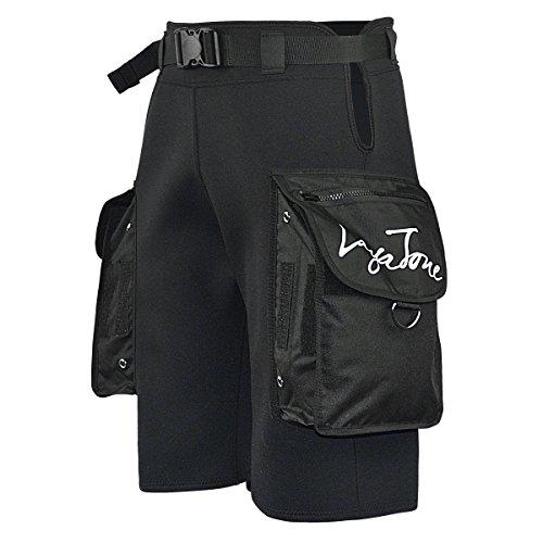 LayaTone Pantaloncini Muta Tasca per Uomo Pantaloncini Neoprene 3mm Pantaloncini da Sub Snorkeling Pesca Subacquea Grandi Pantaloncini da Sub Tasca Uomo