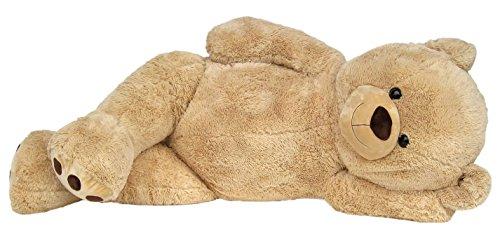 Wagner 9051 - Riesen XXL Teddybär 160 cm groß in hell-braun - Plüschbär Kuschelbär Teddy Bär in beige 1,60 m