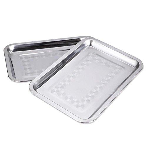Massives Edelstahl Essbrett rechteckigen Tablett flach Grillplatte quadratische Platte Futternapf