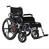 ENVIGF Electric Wheelchair Elderly Disabled Car Elderly Intelligent Automatic Portable Scooter Multifunctional Folding,Weight 82 Lbs And 23 Miles Range,Black