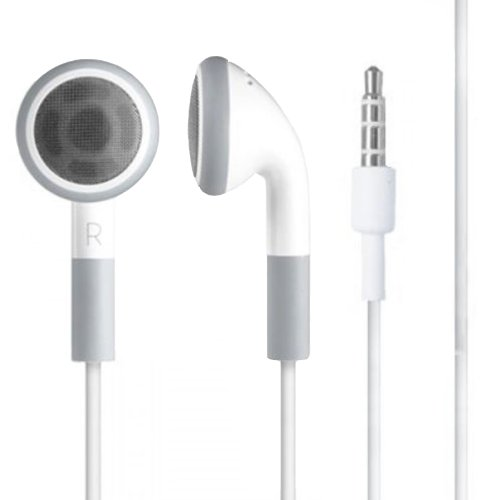 Cuffie stereo in-ear per iPhone 66S 6+ Plus 55C 5S 4S iPad iPod Air Galaxy S2 S3 S4 S5 S6Note 23Edge HTC M7M8-colore bianco