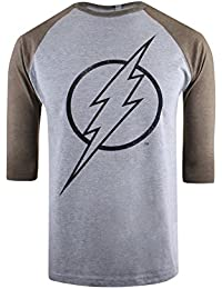 DC Comics Men's Flash Line Logo T-Shirt