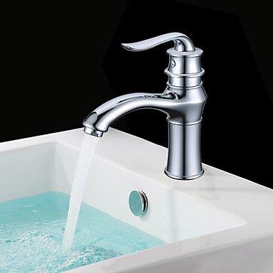 SADASD Grifo lavabo del baño de cromo de cobre...