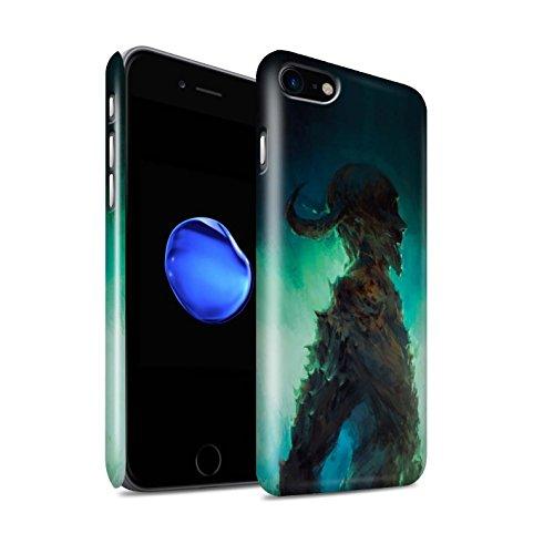 Offiziell Chris Cold Hülle / Glanz Snap-On Case für Apple iPhone 7 / Dunkelste Stunde Muster / Dämonisches Tier Kollektion Gehörnter Dämon