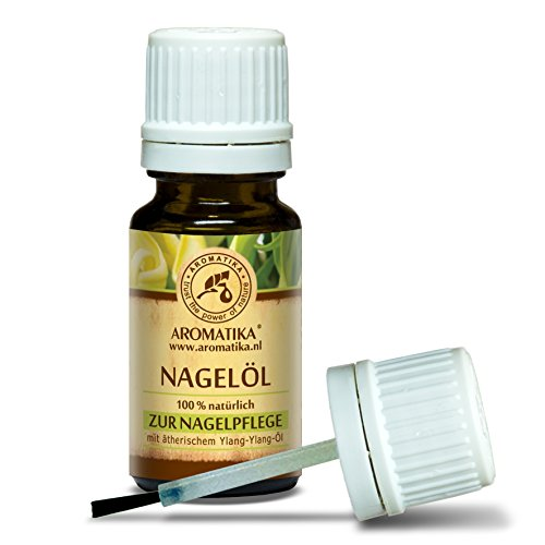 Nagelöl 10ml - Nagelhautöl mit Naturreinem 100% Zitronenöl - Ylang-Ylang - Jojoba & Traubenkern - für Trockene & Brüchige Nägel - Nagelwachstum - Nagelstärkung - Cuticle Nail Oil - Nagelpflege -