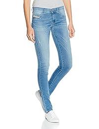 Diesel Livier Pantaloni, Azul para Mujer