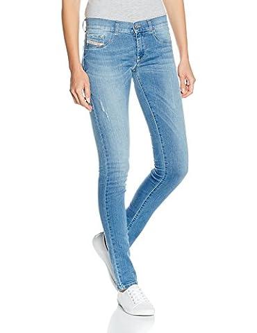Diesel Livier Pantaloni, Jeans Femme, Bleu-Blau (01), 30 W/32 L