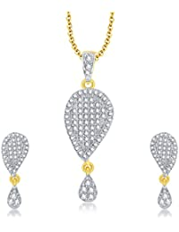 Sukkhi Charming Gold Plated CZ Pendant Set For Women